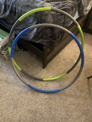 Weighted hula hoops for Sale in Sacramento, CA