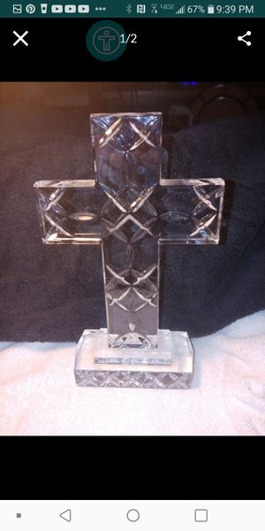 Large 10 inches Lead Crystal H18THeavy Cross $ 15 FIRM for Sale in Fresno, CA