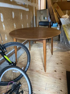 Mid century modern pin leg extendable dining table for Sale in Steilacoom, WA