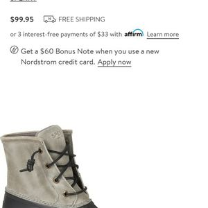 Sperry Saltwater Rain Boot (Duck Boot) - Brand NEW for Sale in Sloan, NV