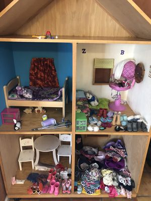 Doll house, clothes and accessories. for Sale in Phoenix, AZ