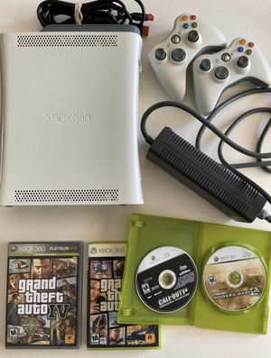 XBOX 360 (60 GB) with Controllers and Games for Sale in San Diego, CA