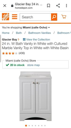 BRAND NEW 24inch vanity combo for Sale in Fort Lauderdale, FL