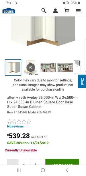 Allen + Roth Corner Kitchen Cabinet with Super Lazy Susan for Sale in Phoenix, AZ