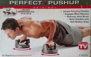 BRAND NEW Perfect Pushup & Stamina Doorway Trainer Plus Instructional DVD for Sale in San Antonio, TX