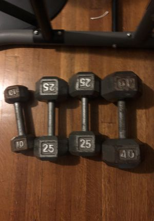 A set of dumbbells for sale for Sale in Houston, TX