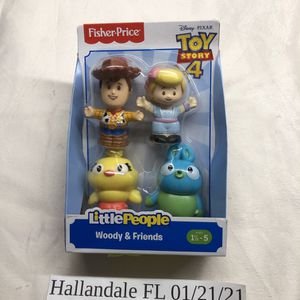 Fisher-Price Little People Toy Story 4 Woody BoPeep Ducky Bunny for Sale in Aventura, FL