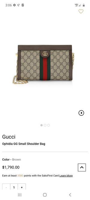 Authentic GUCCI Ophidia GG Small Shoulder Bag for Sale in West Valley City, UT