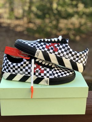 Off-White Vulc Low Checkered sizes 9.5 and 10.5 for Sale in Alexandria, VA