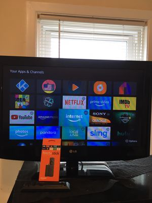 """32"""" LG tv & Fire tv stick with for Sale in Pawtucket, RI"""