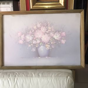 Oil painting canvas flowers vase for Sale in Aventura, FL