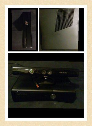 Xbox 360 + Wires + Kinetic + Controllers for Sale in Pittsburgh, PA