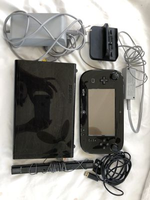 Nintendo Wii U deluxe black 32GB. One console. Great Christmas gift. for Sale in Brooksville, FL