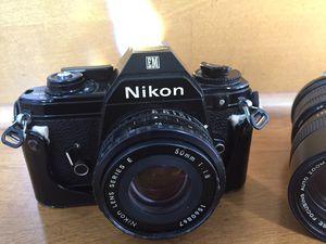 Vintage Nikon EM 50mm Lens & a Vivitar 70-150mm lens for Sale in Roselle, IL