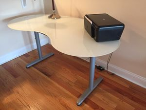 Used, Glass white table for Sale for sale  Wood-Ridge, NJ