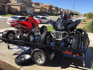 Quads and trailer, 2009 TRX 450R and 2008 TRX 400X for Sale in Etiwanda, CA
