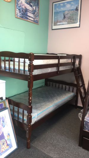 New in box twin / twin bunk bed with mattress $399 for Sale in Nashville, TN
