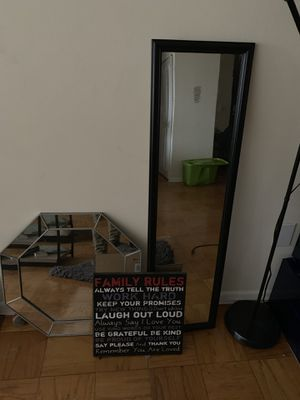 Mirrors, wall art, candle holders for Sale in Washington, DC