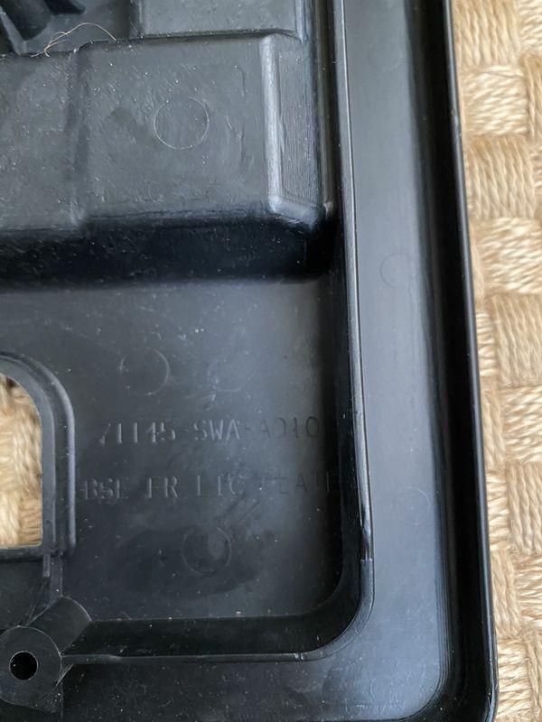 Genuine Honda Front License Plate bracket