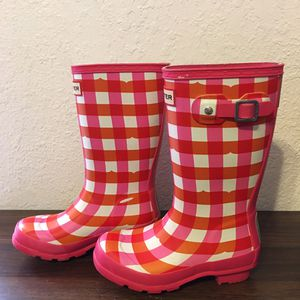 Hunter Toddler Girls checker rain boots sz 13 for Sale in Hialeah, FL