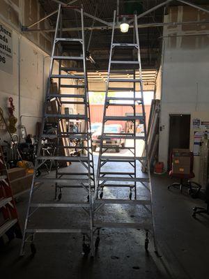 Werner 10 ft. Aluminum Platform Step Ladders with Wheels!!! for Sale in Austin, TX