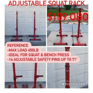 Adjustable Squat Rack for Sale in Fresno, CA