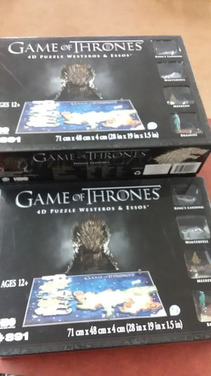Game of thrones 4d puzzle for Sale in St. Helens, OR