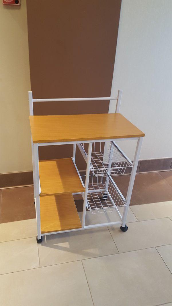 Bend New Kitchen Cart on Wheels