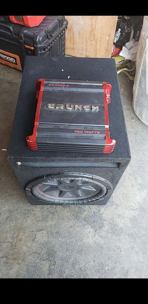 Kicker 12 and amp for Sale in Diamond Bar, CA