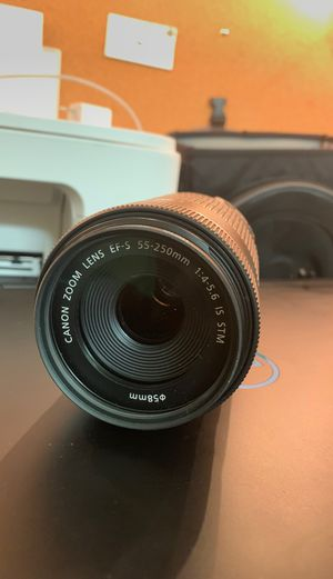 Canon 55-250mm STM lens for Sale in Fort Carson, CO