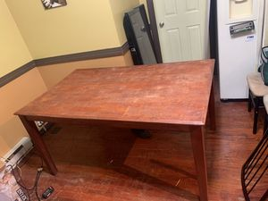 Dining Room Table (real wood) 4 chairs $65 or best offer for Sale in Philadelphia, PA