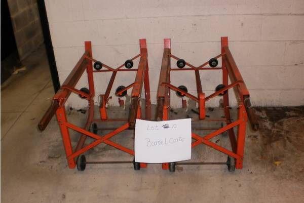 2x - 55-Gallon Drum Steel Cradle 1,000lb Capacity