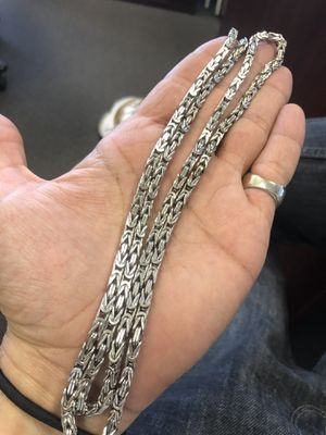 """10K Gold 48"""" Box Byzantine Necklace Chain for Sale in Las Vegas, NV"""