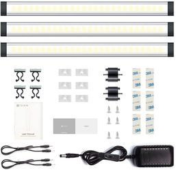3 Pack LED Under Cabinet Lighting, Touch Control Under Closet Light, Dimmable for Sale in Katy,  TX