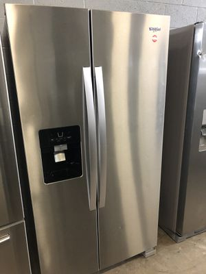 36by68 NEW WHIRLPOOL SIDE BY SIDE FRIDGE STAINLESS STEEL WITH WARRANTY for Sale in Woodbridge, VA
