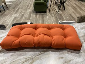 "Sunbrella orange love seat cushion. Indoor/outdoor. 44"" x 19"" x 5"" Retails $84. Asking $38 + tax for Sale in Woodstock, GA"