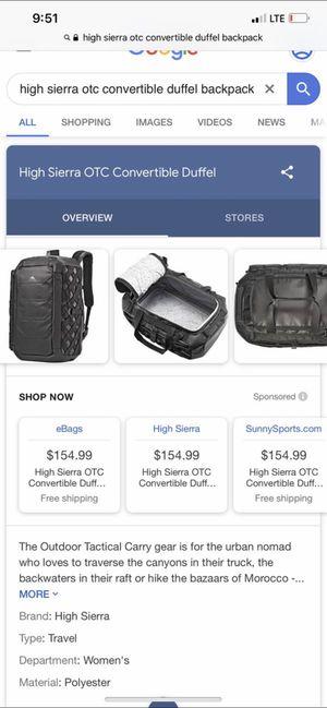 Dufflebag / backpack for Sale in Ontario, CA