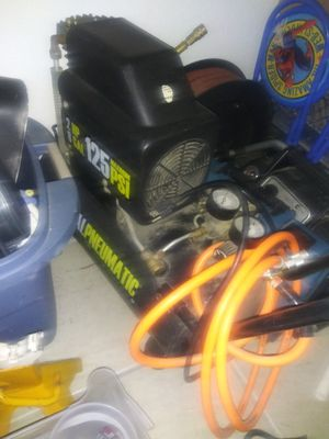 Air compressor and 50 ft brand new hose reel for Sale in Bakersfield, CA
