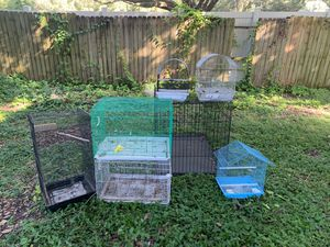 Bird cage and dog for Sale in Tampa, FL