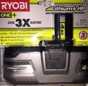 Ryobi 18V 4Ah Battery for Sale in Seattle, WA