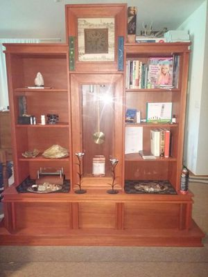Antique hand crafted one of a kind grandfather clock with display shelves for Sale in Tacoma, WA