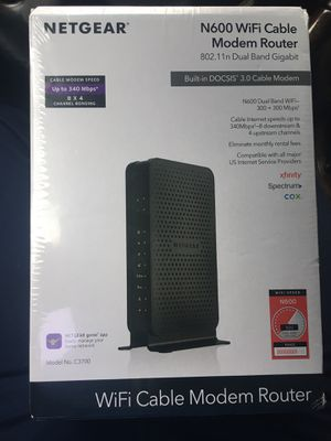 Netgear N600 WiFi Cable Modem Router for Sale in Chicago, IL