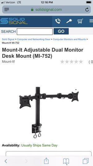 Dual Computer Monitor Desk Mount for Sale in Santa Fe Springs, CA