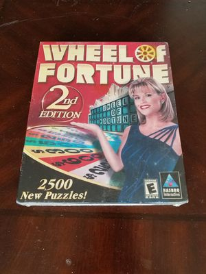 WHEEL OF FORTUNE 2ND EDITION 2500 New Puzzles! PC Game Trivia CD-ROM New Sealed for Sale in Philadelphia, PA