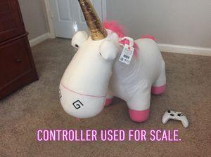 """HUGE 35"""" White/Pink Unicorn Plush Agnes Doll—Despicable Me 2 for Sale in Alpharetta, GA"""