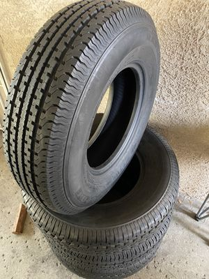St235/80r16 trailer 4 trailer tires like new $220 4 llantas como nuevas para trailer for Sale in Rialto, CA