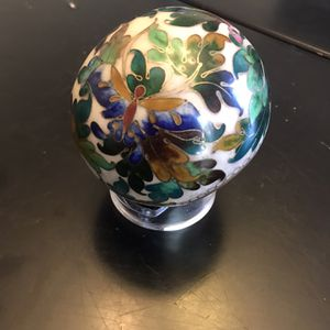 Vintage Brass KUO's CHINA CLOISONNÉ FLORAL BUTTERFLY PAPERWEIGHT for Sale in Columbia, SC