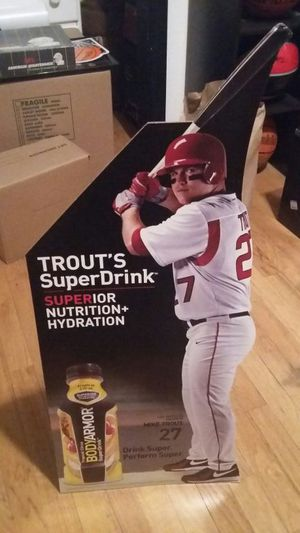 Mike trout cardboard store display for Sale in Portland, OR