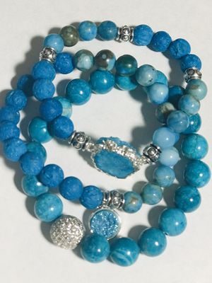 3 Boho bracelets with druzy charms for Sale in Orlando, FL
