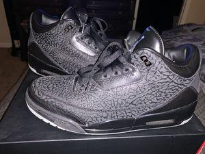 VNDS 9/10 Jordan Retro 3 Flip Black Size 12 FOR SALE!!! for Sale in Portland, OR